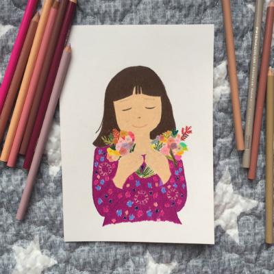 손그림01. ALICIA WITH FLOWER
