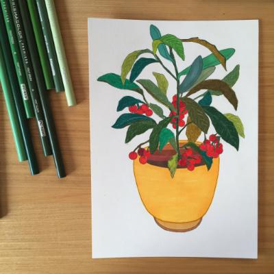 손그림05. Flowerpot